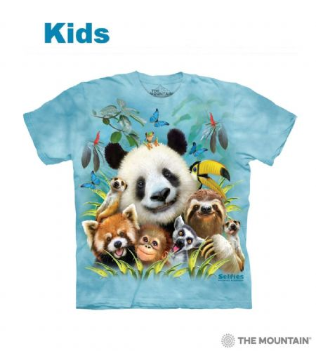 Kids Zoo Selfie T-shirt | The Mountain®